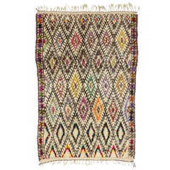 Vintage Beni Ourain Moroccan Rug with Tribal Style, Berber Moroccan Rug