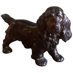 Cocker Spaniel Cast Iron Dog Doorstop by Hubley