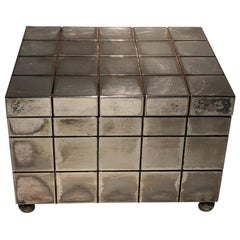 Vintage Richard Meier Silver Plate Jewelry Box