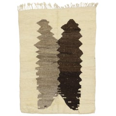 Vintage Moroccan Rug with Navajo Style and Inkblot Art Design