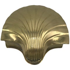 1960s Brass Seashell Box