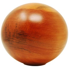 Hollow Form Vase in White Pine by John Sage
