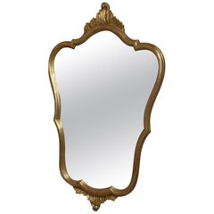Hollywood Regency Style Mirror gilded Wood Vintage, Italy, 1960s