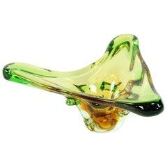 Art Glass Bowl by Frantisek Zemek for Glass Factory Mstisov, Czechoslovakia