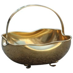 Shaped Bowl Solid 1960 Italy Brass Mid-Century Modern