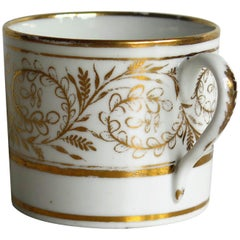 Georgian Coalport Coffee Can Trailing Vine gilded pattern number 1096