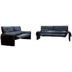 De Sede Sofa DS-2011 in schwarzem Leder