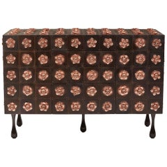 Copper and Burnished Steel, Contemporary Rosette Sideboard by Egg Designs