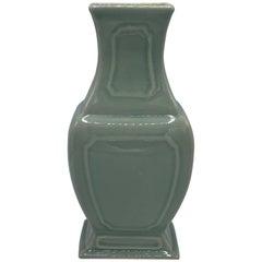 1980s Maitland Smith Chinoiserie Celadon Vase