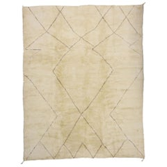 New Contemporary Oversize Moroccan Rug with Organic Mid-Century Modern Style