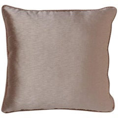 2 Brabbu Sakura Pillow in Taupe Satin