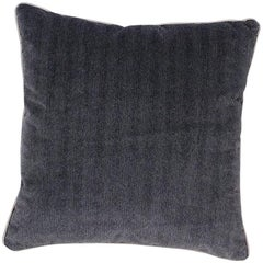 Brabbu Coriolus Pillow in Textured Blue Velvet