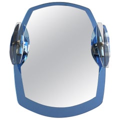 Crystal Arte Blue Mirror with Side Lights
