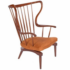 Danish Architect Designed Sculptural Rocking Chair