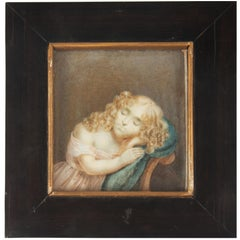 Early 19th Century Painted Miniature Depicting Nicolette Six