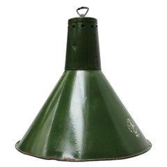Green Enamel Vintage Industrial Pendant Lights