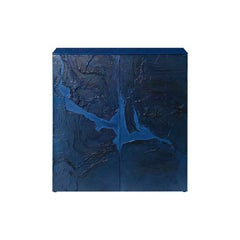 Dakka Storage Cabinet in Blue Lacquer Hand-Painted Decoration, Numbered Edition