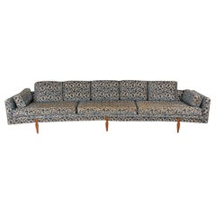 Extra Long Mid-Century Modern Curved Sofa after Edward Wormley for Dunbar
