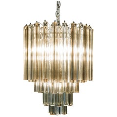 1960s Venini Chandelier from Trilobo Series