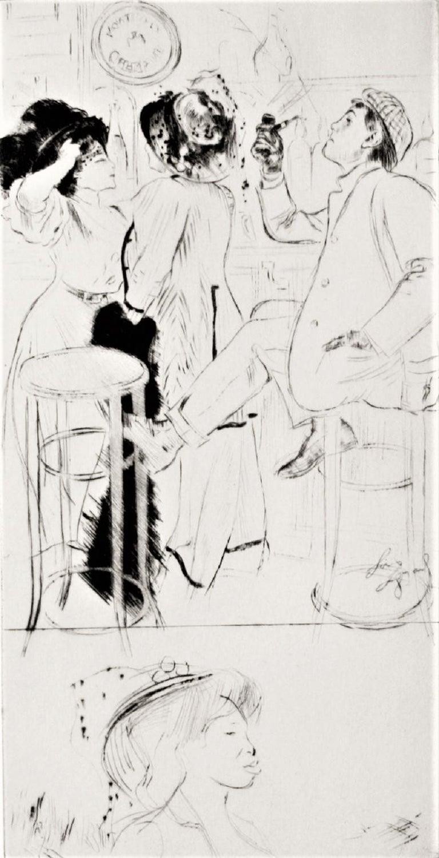 Louis Legrand Figurative Print - Sportsmen