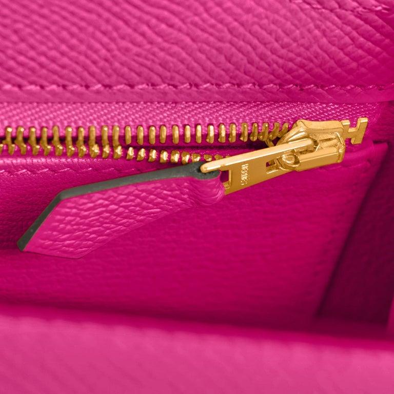Hermes Kelly 25 Rose Pourpre Pink Epsom Sellier Shoulder Bag Gold Y Stamp, 2020 4