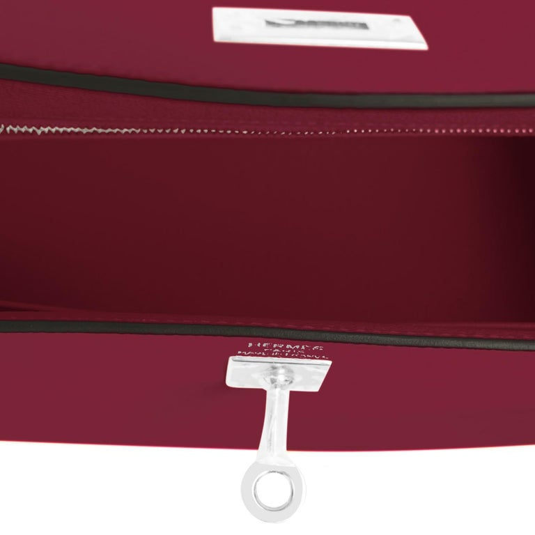 Hermes Kelly 25 Rouge H Epsom Sellier Bordeaux Shoulder Bag Y Stamp, 2020 For Sale 2