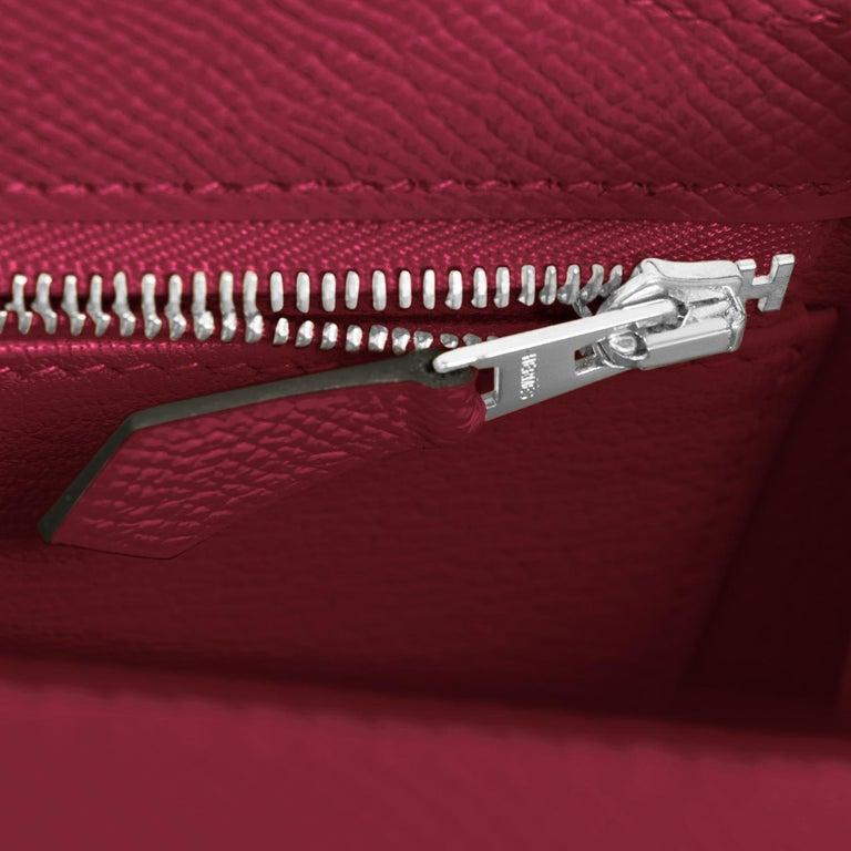 Hermes Kelly 25 Rouge H Epsom Sellier Bordeaux Shoulder Bag Y Stamp, 2020 For Sale 3