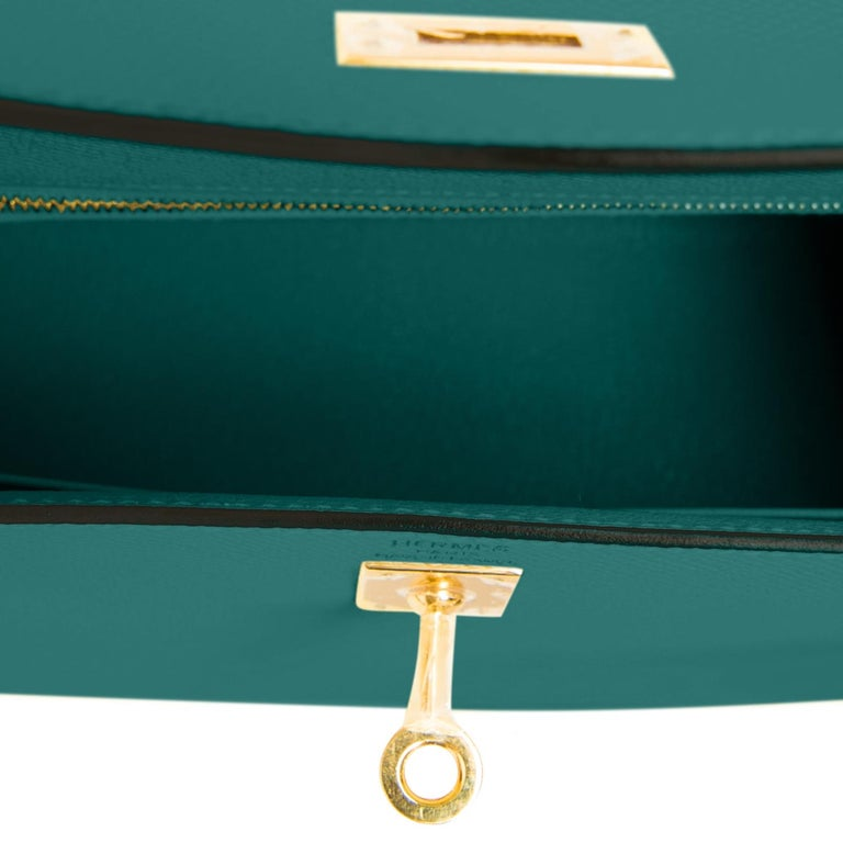 Hermes Kelly 25cm Malachite Jewel Green Epsom Sellier Bag Gold Y Stamp, 2020 For Sale 2