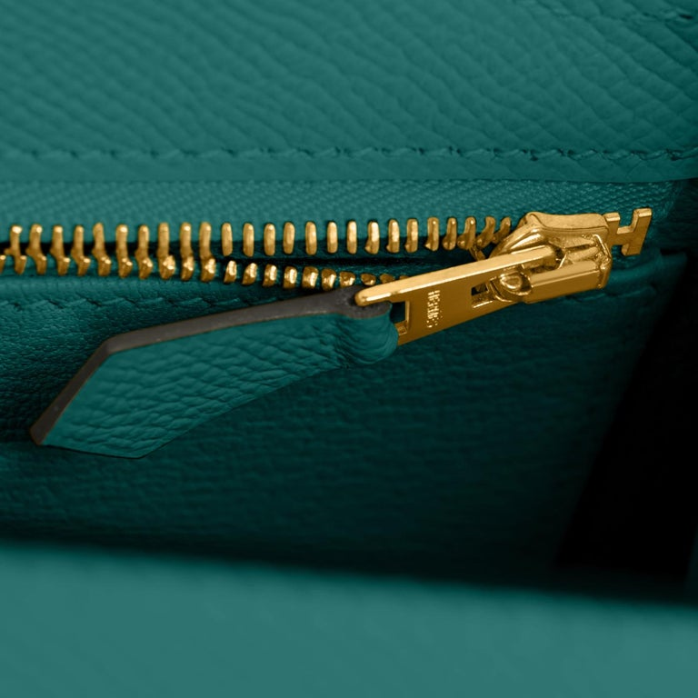 Hermes Kelly 25cm Malachite Jewel Green Epsom Sellier Bag Gold Y Stamp, 2020 For Sale 3
