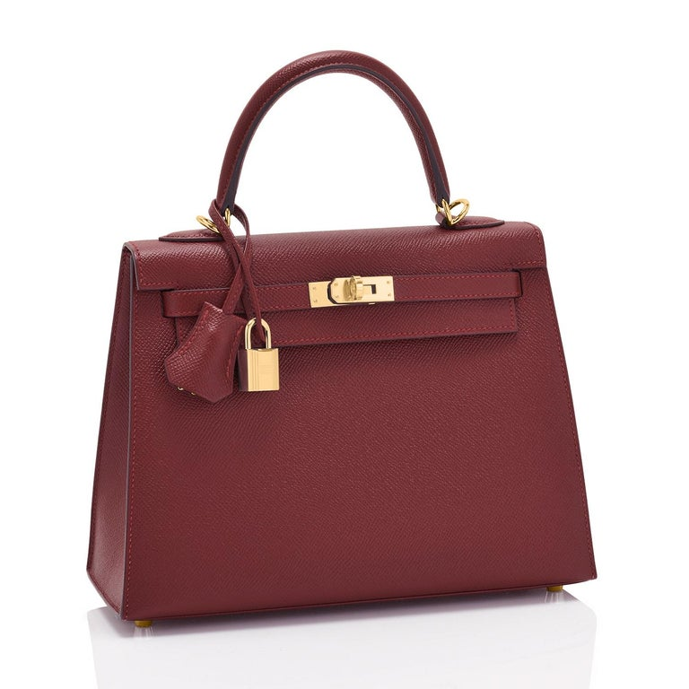 Hermes Kelly 25cm Rouge H Hermes Epsom Sellier Gold Hardware Y Stamp, 2020 Brand New in Box. Store Fresh. Pristine Condition (with plastic on hardware).  Just purchased from Hermes store; bag bears new interior 2020 Y stamp.  Perfect gift!  Comes