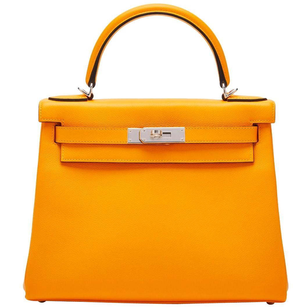Hermès Kelly 28 Jaune d'Or Evercolor
