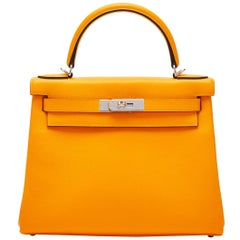 Hermès Kelly 28 Jaune d'Or Evercolor