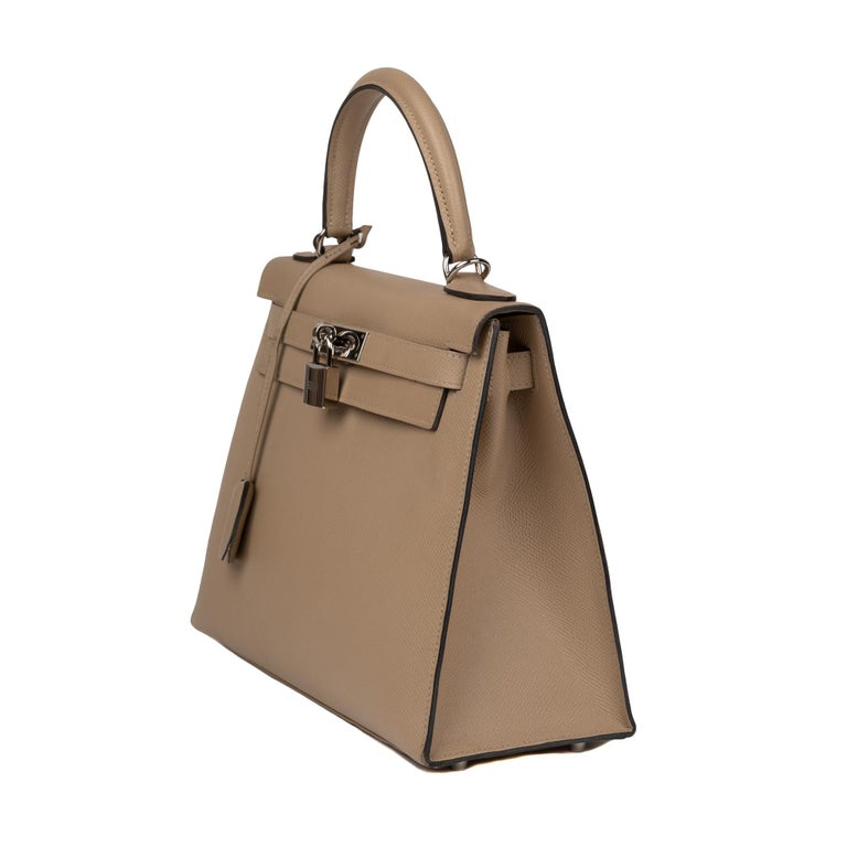 Hermès Kelly 28 handbag with strap in epsom leather Trench color, new condition  For Sale 1