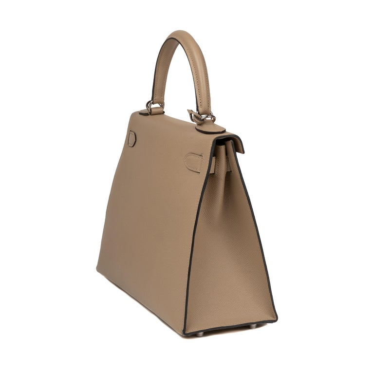 Hermès Kelly 28 handbag with strap in epsom leather Trench color, new condition  For Sale 2