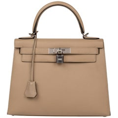 Hermès Kelly 28 handbag with strap in epsom leather Trench color, new condition