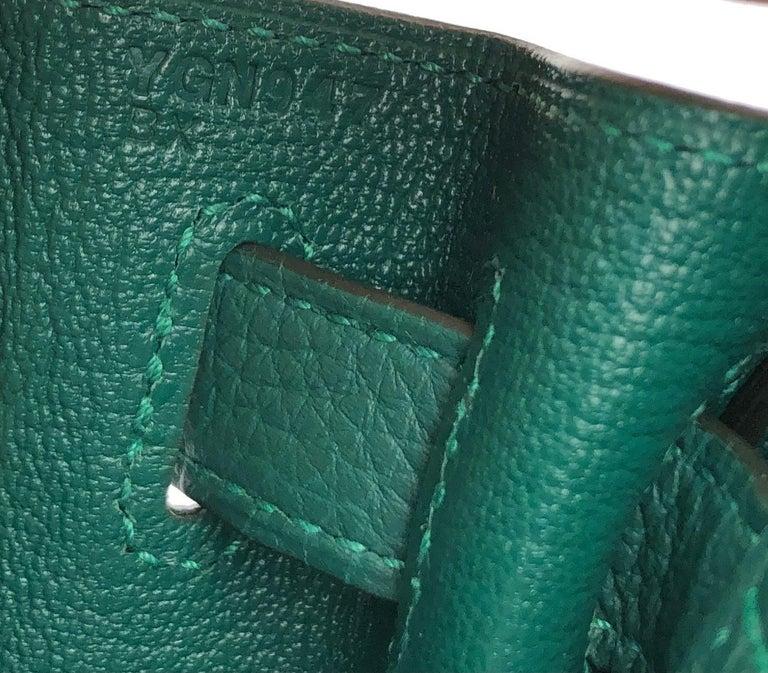 Hermes Kelly 28 Malachite Togo Gold Hardware 2020 For Sale 3