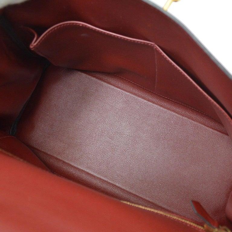 Hermes Kelly 28 Merlot Wine Leather Gold  Top Handle Satchel Tote Shoulder Bag  For Sale 1