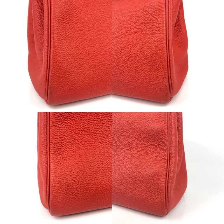 Hermes Kelly 28 Rouge Casaque Red Palladium Hardware 2016 For Sale 6