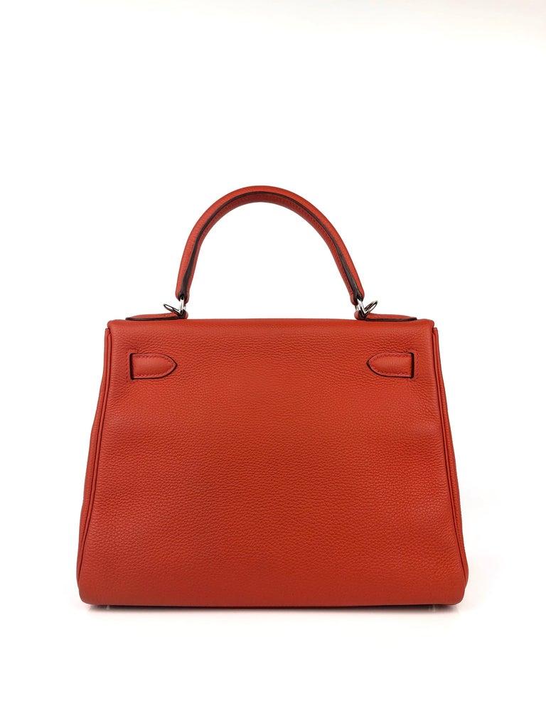 Women's or Men's Hermes Kelly 28 Rouge Casaque Red Palladium Hardware 2016 For Sale