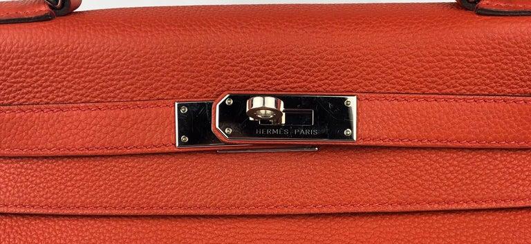Hermes Kelly 28 Rouge Casaque Red Palladium Hardware 2016 For Sale 1