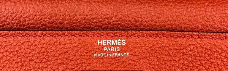 Hermes Kelly 28 Rouge Casaque Red Palladium Hardware 2016 For Sale 2