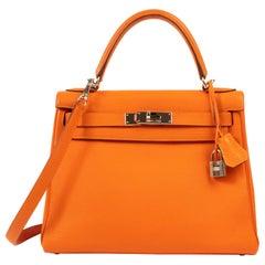 Hermes Kelly 28 Togo Orange PHW
