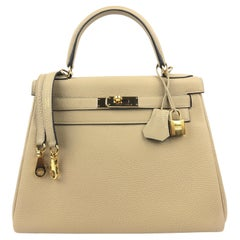 Hermes Kelly 28 Trench Togo Gold Hardware