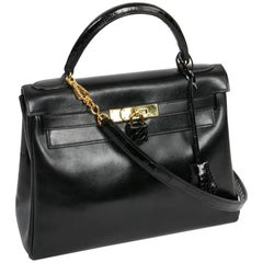 Hermes Kelly 28 Vintage Black