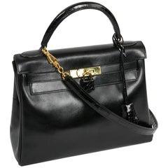 Hermes Kelly 28 Vintage Black