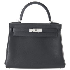 Hermes Kelly 28cm Black Togo with Palladium
