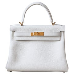 Hermès Kelly 28CM Clemence Gold-Plated H/W Bag