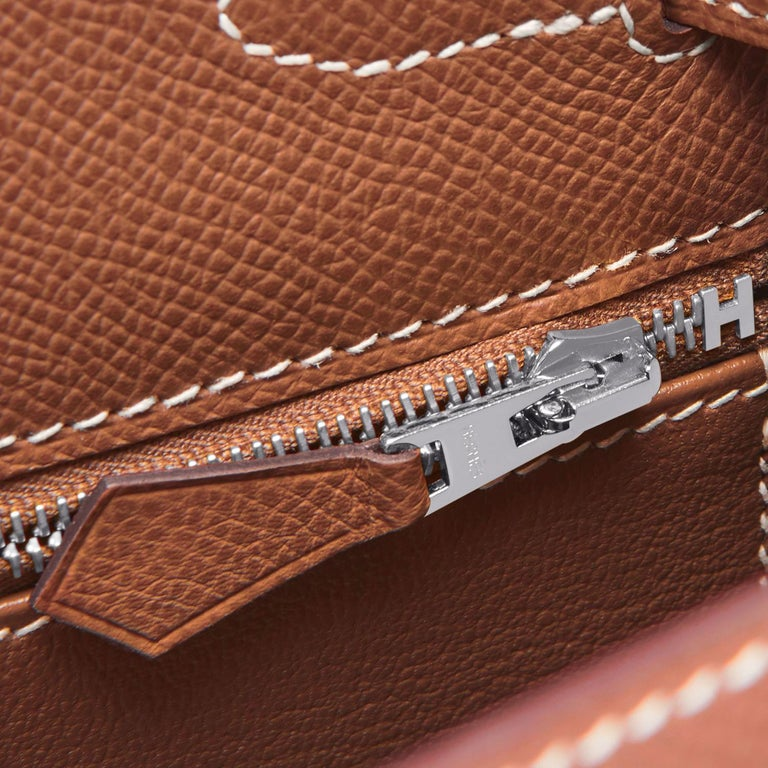 Hermes Kelly 28cm Gold Camel Tan Epsom Sellier Shoulder Bag NEW For Sale 3