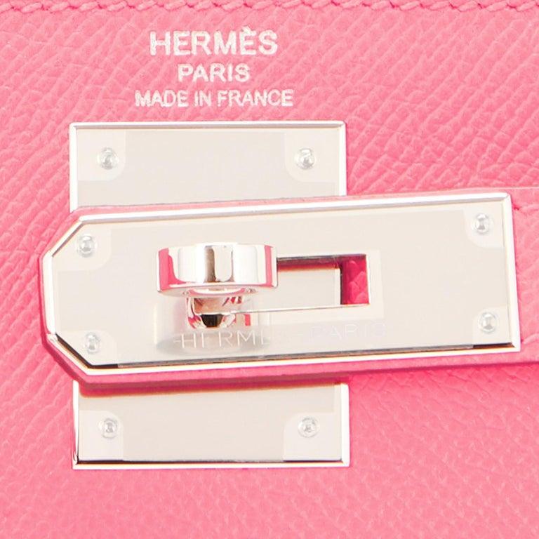 Hermes Kelly 28cm Rose Confetti Pink Sellier Shoulder Bag Y Stamp, 2020 For Sale 6