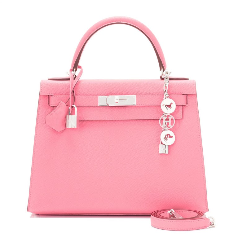 Hermes Kelly 28cm Rose Confetti Pink Sellier Shoulder Bag Y Stamp, 2020 In New Condition For Sale In New York, NY